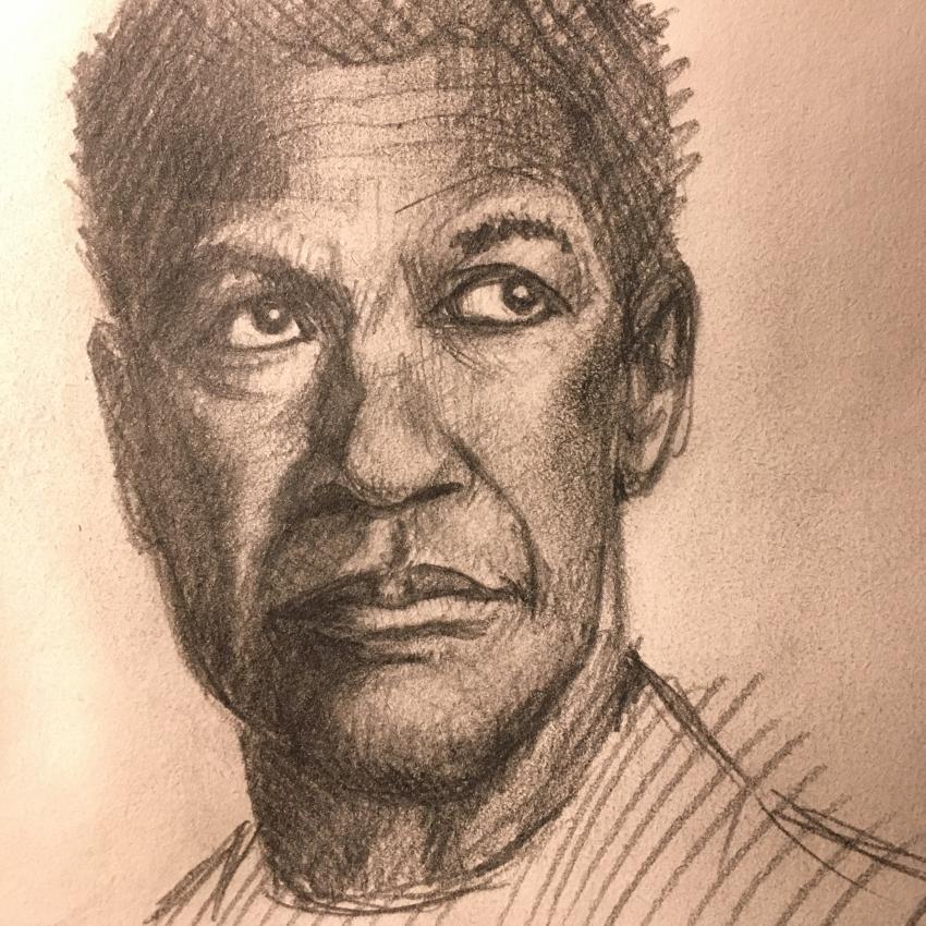 Denzel Washington by Flip